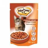 Пауч Мнямс для взрослых кошек с говядиной, 100 г