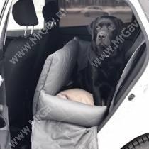 Автокресло стеганное с высокими бортами, 70 см*50 см, серное