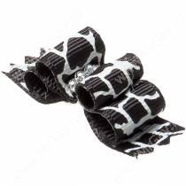 Бантик двойной объемный 4,5*1,5 см, бело-черный