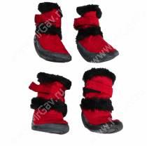 Ботинки Dezzie N3, красные с мехом
