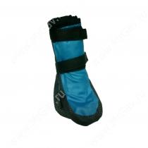 Ботинки утепленные для собак OSSO, 2, черно-голубые