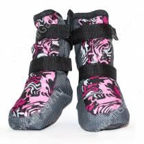 Ботинки утепленные для собак OSSO, 3, черно-розовые