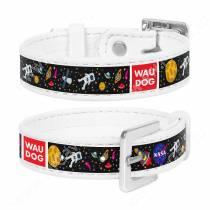 Браслет Collar WAUDOG Design NASA, 23 см*1,5 см, белый