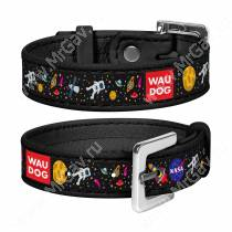 Браслет Collar WAUDOG Design NASA, 23 см*1,5 см, черный