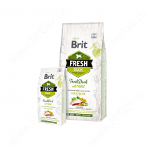 Brit Fresh Dog Duck With Millet Run & Work