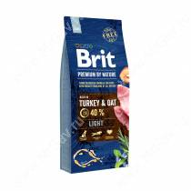Brit Premium Dog Light, 15 кг