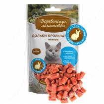 Деревенские лакомства дольки крольчатины для кошек, 50 г