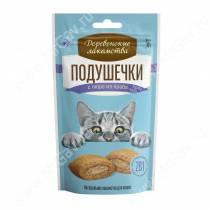 Деревенские лакомства подушечки с пюре из краба для кошек, 30 г
