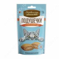Деревенские лакомства подушечки с пюре из креветок для кошек, 30 г