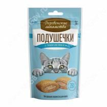 Деревенские лакомства подушечки с пюре из лосося для кошек, 30 г