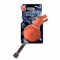 Динобол Т-рекс Dinoball GiGwi с отключаемой пищалкой, оранжевый