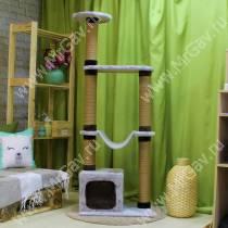 Домик-когтеточка для кошек Гамак серый