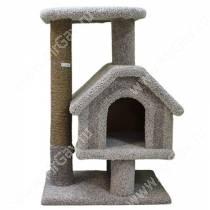 Домик-когтеточка для кошек Хаус