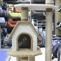 Домик-когтеточка для кошек Избушка