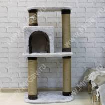 Домик-когтеточка для кошек Модерн серый