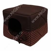 Домик Кубик-трансформер, M, 45 см*45 см*45 см, коричневый