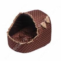 Домик Норка, L, 43 см*45 см*45 см, шоколадная в белый горох