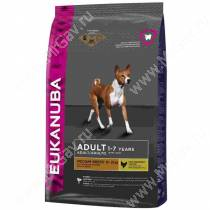 Eukanuba Adult Medium Breed (Курица), 15 кг