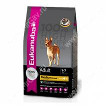 Eukanuba Adult Medium Breed (Курица), 7,5 кг