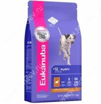 Eukanuba Puppy&Junior All Breeds (Ягненок с рисом), 2,5 кг
