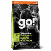 GO! Carnivore Grain Free Dog Puppy Chicken, Turkey, Duck, Salmon Recipe, 5,44 кг