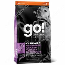 GO! Carnivore Grain Free Dog Senior Chicken, Turkey, Duck, Salmon Recipe