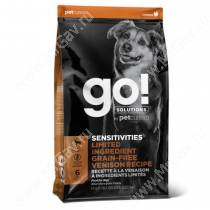GO! Sensitivities Limited Ingredient Grain-Free Venison Recipe, 1,59 кг