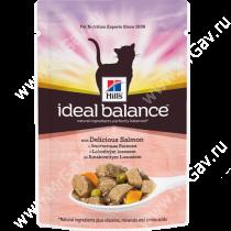 Hill's Ideal Balance корм для кошек с аппетитным лососем, 85 г