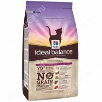 Hill's Ideal Balance No Grain натуральный беззерновой сухой корм для кошек с курицей и картофелем, 1,5 кг