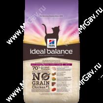 Hill's Ideal Balance No Grain натуральный беззерновой сухой корм для кошек с курицей и картофелем, 300 г