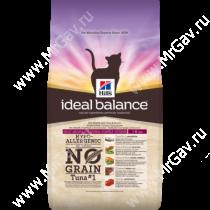 Hill's Ideal Balance No Grain натуральный беззерновой сухой корм для кошек с тунцом и картофелем, 300 г