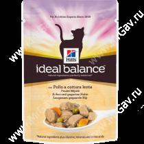 Hill's Ideal Balance влажный корм для кошек с томленой курицей, 85 г