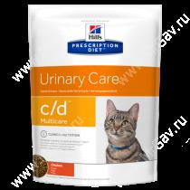 Hill's Prescription Diet c/d Multicare Urinary Care сухой корм для кошек с курицей, 10 кг
