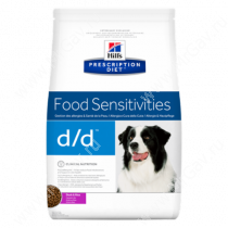 Hill's Prescription Diet d/d Food Sensitivities сухой корм для собак с уткой и рисом, 12 кг