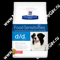 Hill's Prescription Diet d/d Food Sensitivities сухой корм для собак с лососем и рисом, 2 кг