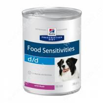 Hill's Prescription Diet d/d Food Sensitivities влажный корм для собак с уткой, 370 г