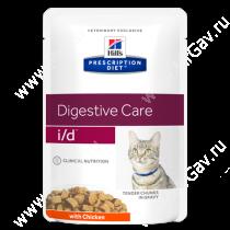 Hill's Prescription Diet i/d Digestive Care влажный корм для кошек с курицей, 85 г