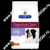 Hill's Prescription Diet i/d Low Fat Digestive Care сухой корм для собак с курицей, 12 кг