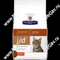 Hill's Prescription Diet j/d Joint Care сухой корм для кошек с курицей, 2 кг