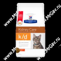 Hill's Prescription Diet k/d Kidney Care сухой корм для кошек с курицей, 5 кг
