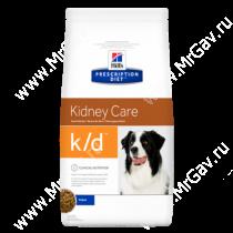 Hill's Prescription Diet k/d Kidney Care сухой корм для собак, 12 кг