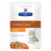 Hill's Prescription Diet k/d Kidney Care влажный корм для кошек с курицей, 85 г