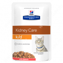 Hill's Prescription Diet k/d Kidney Care влажный корм для кошек с лососем, 85 г
