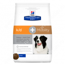 Hill's Prescription Diet k/d + Mobility Kidney + Joint Care сухой корм для собак, 12 кг
