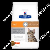 Hill's Prescription Diet k/d + Mobility Kidney + Joint Care сухой корм для кошек с курицей, 2 кг