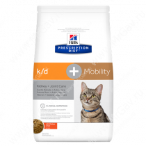 Hill's Prescription Diet k/d + Mobility Kidney + Joint Care сухой корм для кошек с курицей