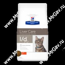 Hill's Prescription Diet l/d Liver Care сухой корм для кошек с курицей, 1,5 кг