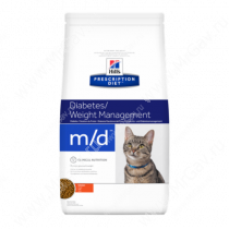 Hill's Prescription Diet m/d Diabetes/Weight Management сухой корм для кошек с курицей