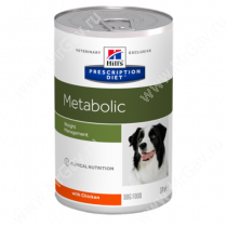 Hill's Prescription Diet Metabolic Weight Management влажный корм для собак с курицей, 370 г