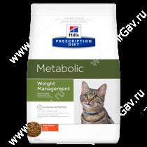 Hill's Prescription Diet Metabolic Weight Management сухой корм для кошек с курицей, 4 кг